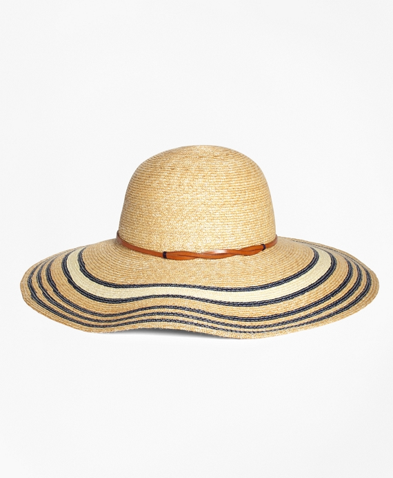 Striped Straw Sun Hat Natural