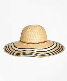 Striped Straw Sun Hat
