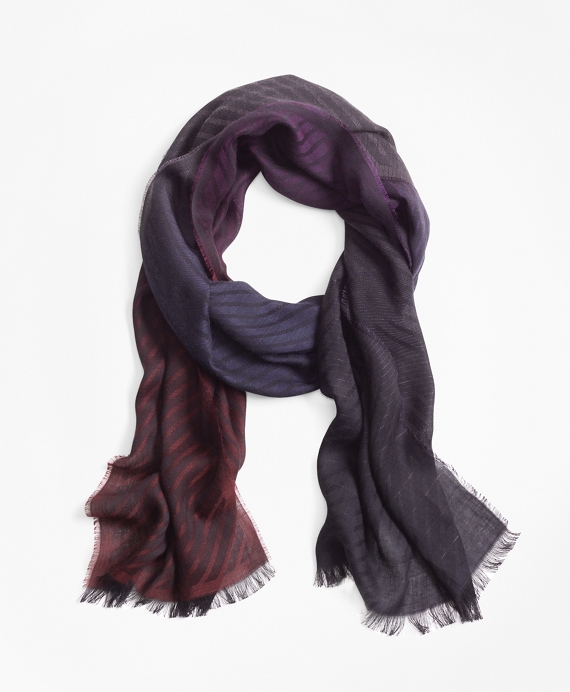 Ombre Striped Scarf