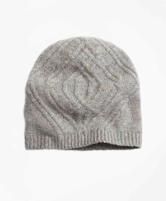 Cable-Knit Cashmere Hat Grey