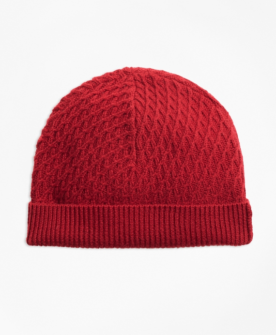 Mixed-Stitch Merino Wool Hat