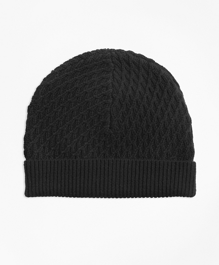 Mixed-Stitch Merino Wool Hat