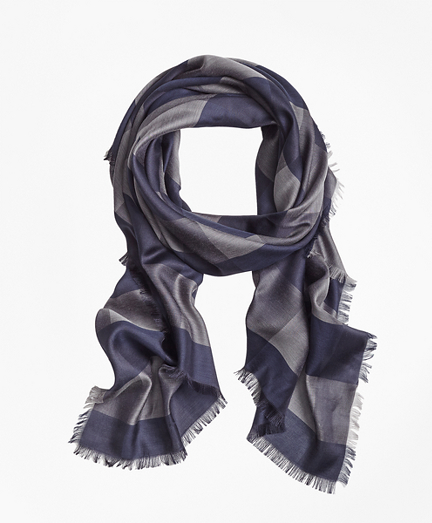Buffalo-Check Oversized Square Scarf