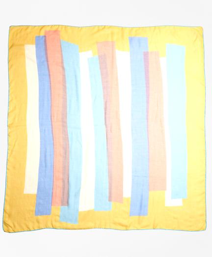 Geometric-Print Cashmere-Silk Scarf