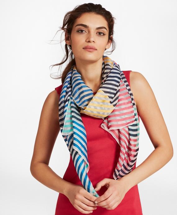 Striped Silk-Blend Scarf