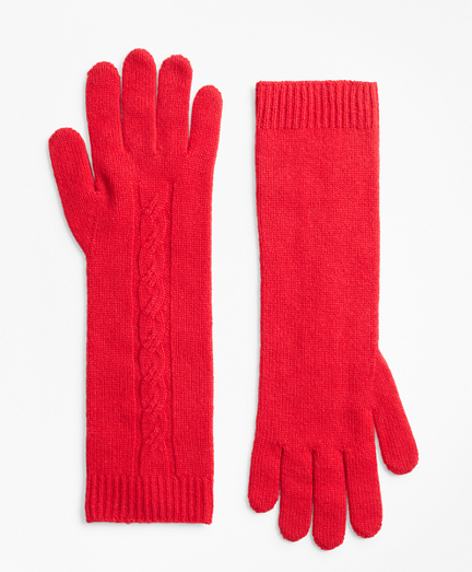 Cable-Knit Cashmere Gloves