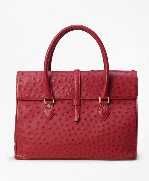 Ostrich Large Satchel Red