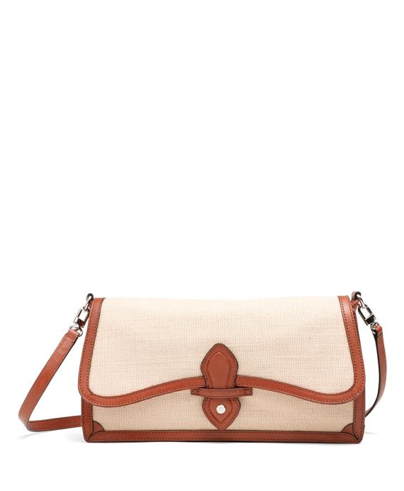 Jute Spectator Medium Flap Bag Tan