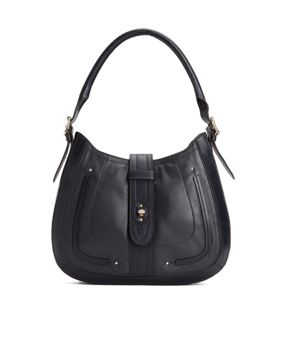 Small Calfskin Hobo Navy