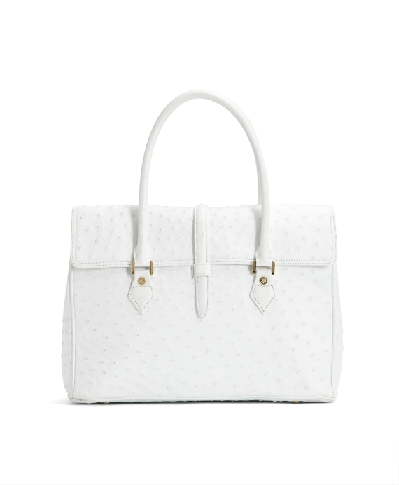 Ostrich Satchel White