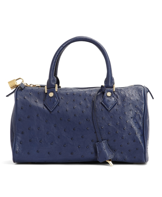 Ostrich Barrel Bag Navy