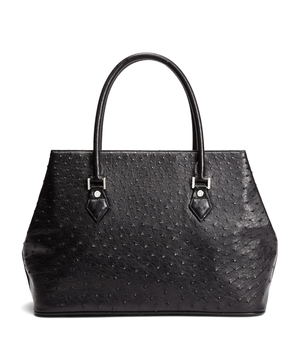 Ostrich Medium Tote Black