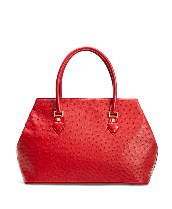 Ostrich Medium Tote Red