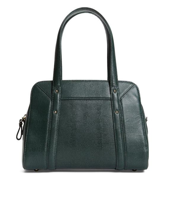 Exotic Embossed Lambskin Medium Satchel Green