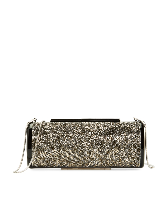 Crystal Rectangular Clutch Black