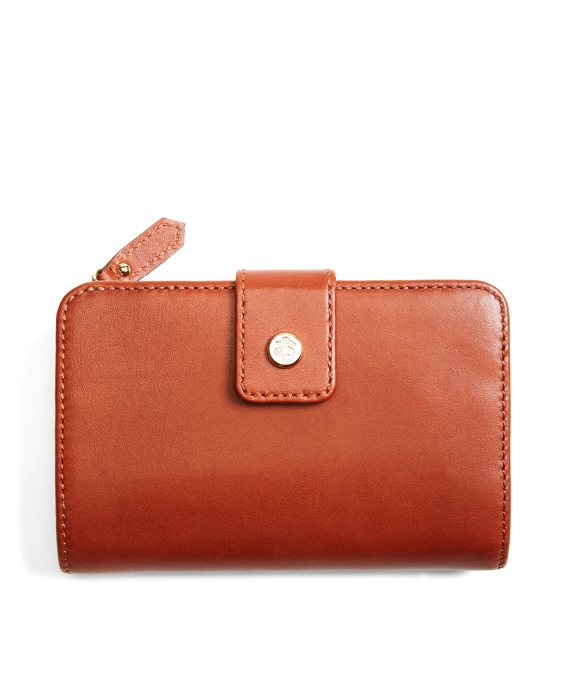 Calfskin Snap French Purse Cognac