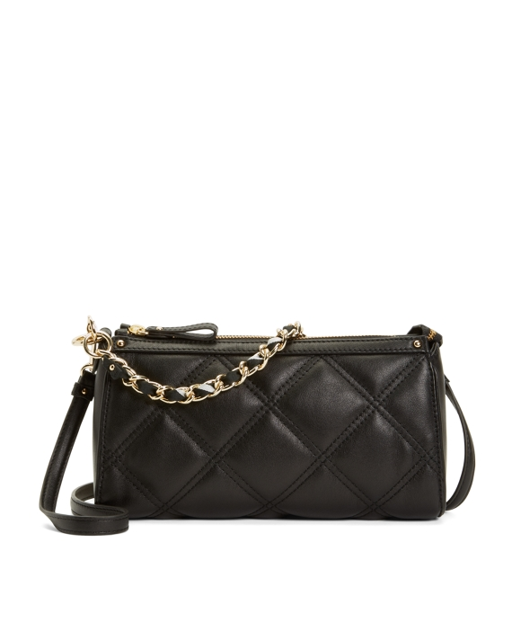 Quilted Calfskin Small Crossbody Bag Black-White
