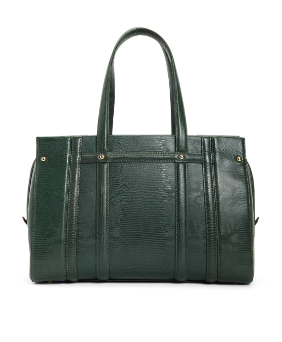 Exotic Embossed Lambskin Large Satchel Green