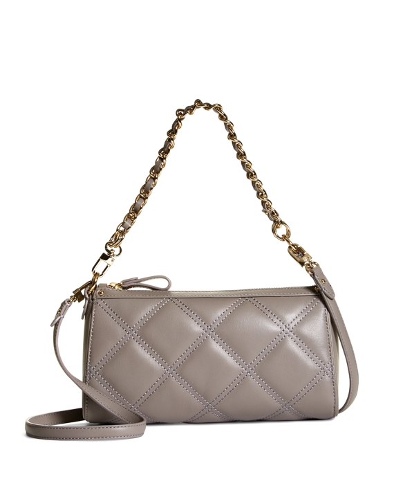 Quilted Calfskin Small Crossbody Bag Grey