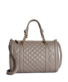Quilted Calfskin Barrel Bag