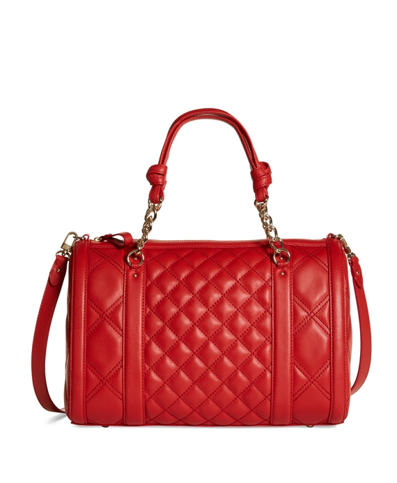 Quilted Calfskin Barrel Bag Red