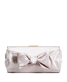 Satin Bow Clutch