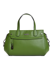 Tumbled Calfskin Large Satchel