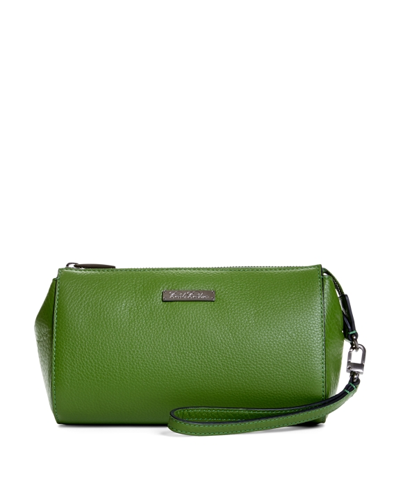 Tumbled Calfskin Clutch Green