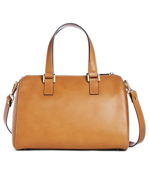 Calfskin Medium Barrel Satchel Camel
