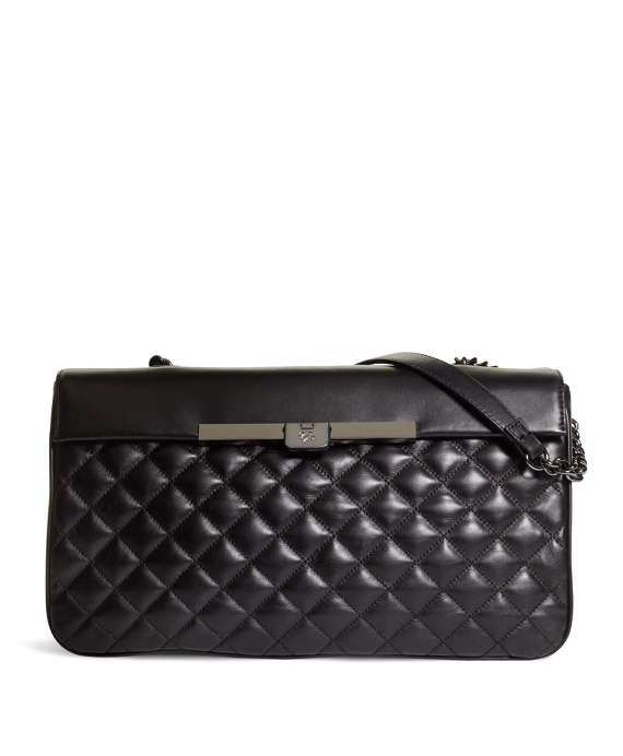 Medium Quilted Calfskin Barrel Bag Black