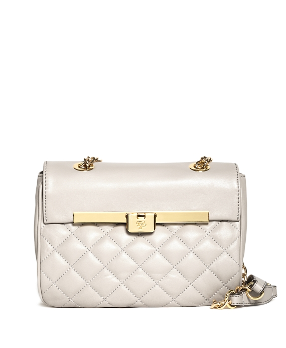 Small Quilted Calfskin Crossbody Bag Ivory