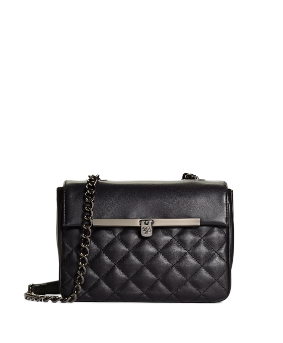 Small Quilted Calfskin Crossbody Bag Black