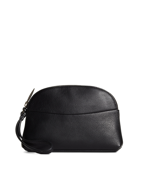 Pebble Calfskin Clutch Black