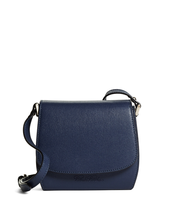 Leather Crossbody Bag Navy