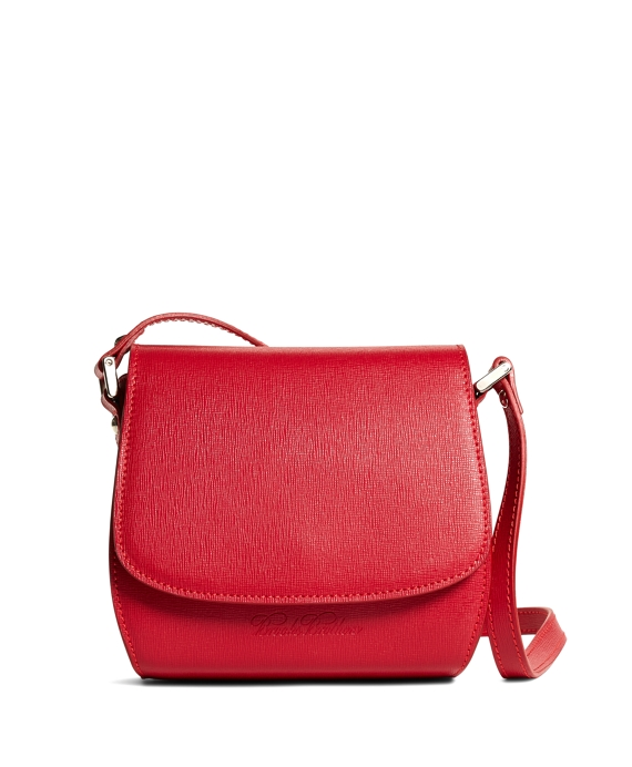 Leather Crossbody Bag Bright Red