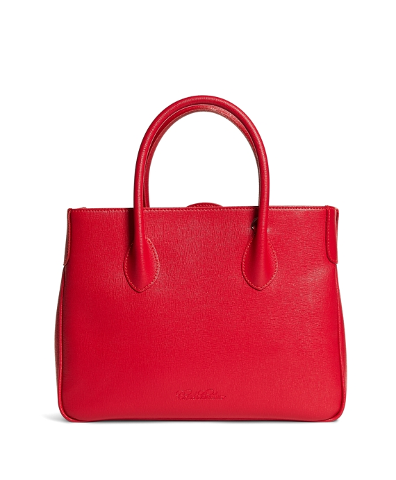 Leather Satchel Bright Red