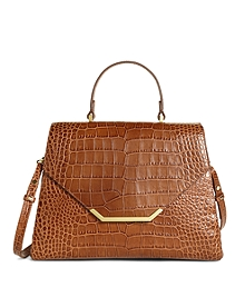 Medium Exotic Embossed Satchel