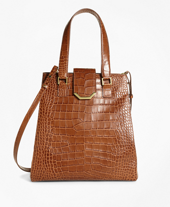 Large Exotic Embossed Tote