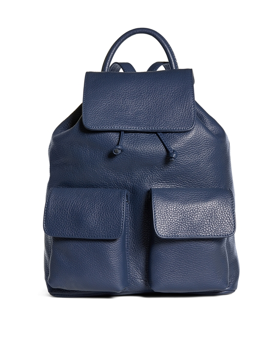 Leather Backpack Navy
