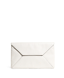 Pebble Calfskin Envelope Clutch