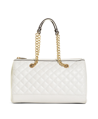 Quilted Leather Barrel Bag
