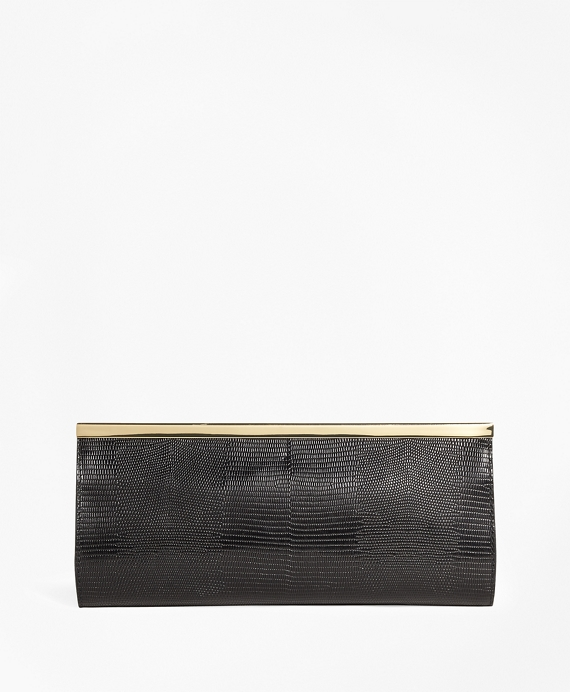 Lizard Embossed Evening Clutch