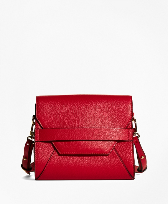 Pebble Calfskin Crossbody Bag Red