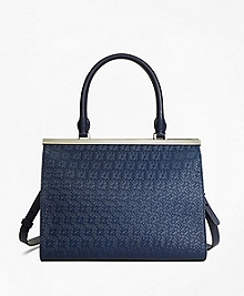 Woven Leather Satchel