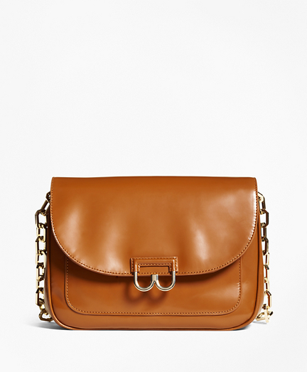 Glazed Leather Babe Shoulder Bag