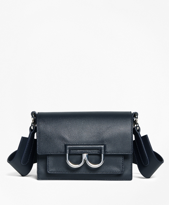 "Calf Leather ""B"" Buckle Shoulder Bag"