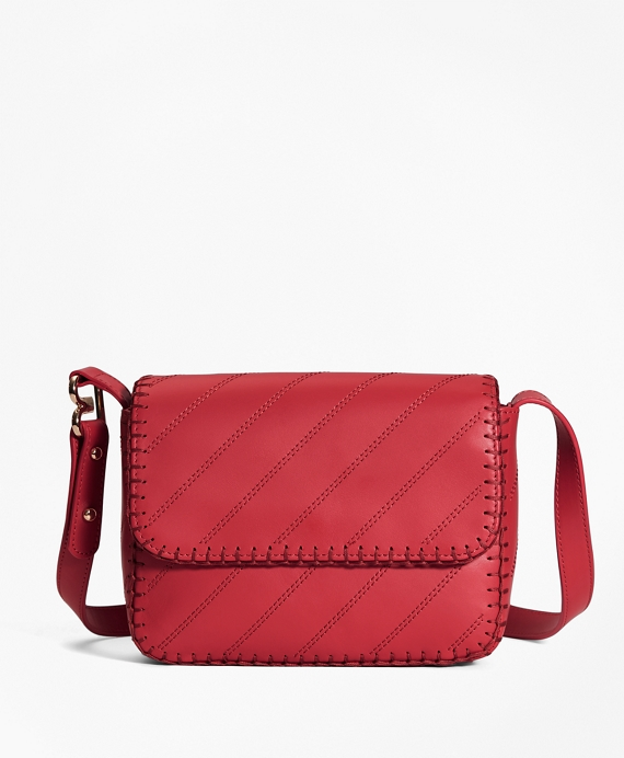 Leather Dione Cross-body Bag Red