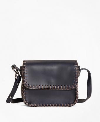 Leather Dotty Shoulder Bag