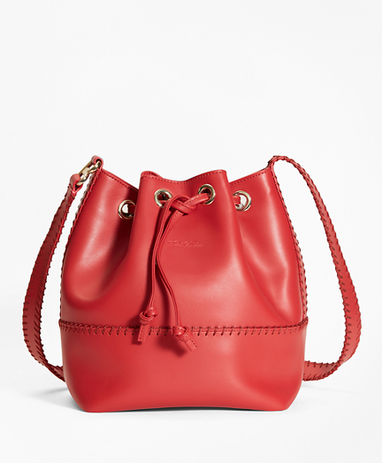 Leather Daria Bucket Bag