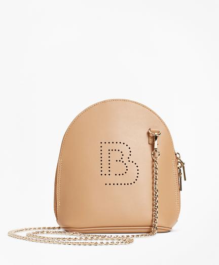 Logo-Embellished Leather Crossbody Bag